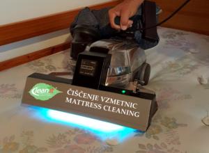 globinsko čiščenje vzmetnic z UV